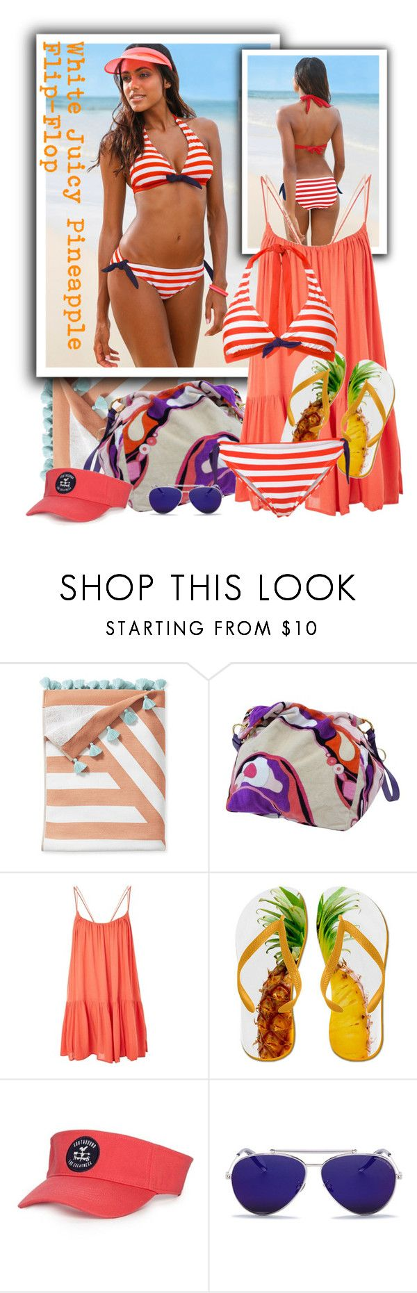 """""""Emilio Pucci Beach Tote"""" by tasha1973 ❤ liked on Polyvore featuring Serena & Lily, Emilio Pucci, Topshop and Alexander McQueen"""