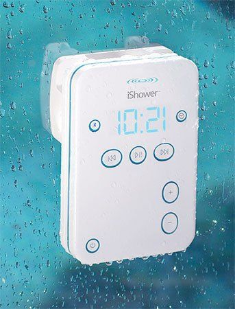 iShower is ready to get wet water resistant Bluetooth speaker - College life with music!