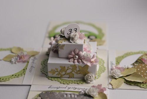 Exploding-box dla rodziców, z okazji rocznicy ślubu.