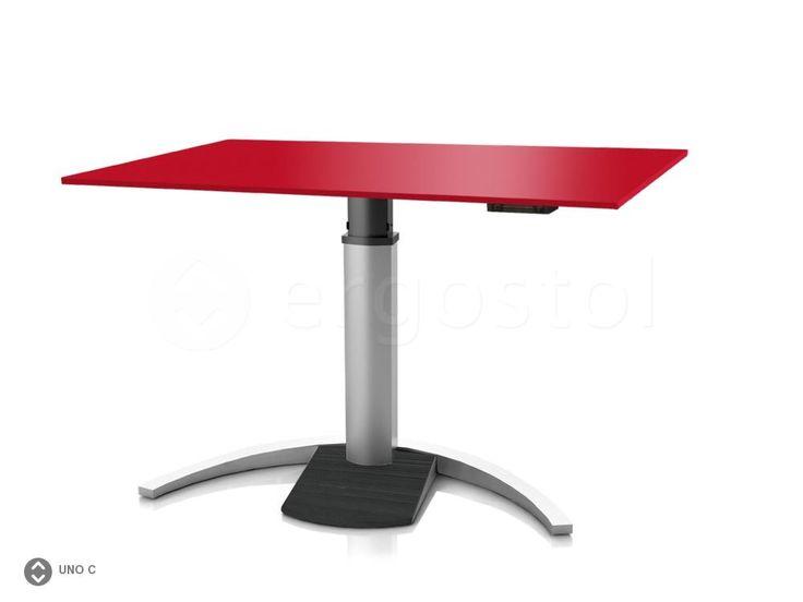 Стильный электро-регулируемый стол ErgoStol Uno С на одной ножке