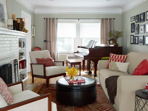 Love These Colors In A Living Room From One Day Makeover With Sabrina