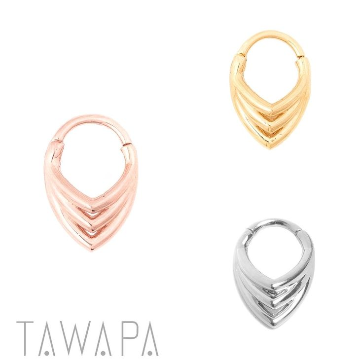 Get the stacked septum look with our new Tear Drop clickers. Your fave piercing shops and retailers should have them and if they don't ask them to order yours for you!  Available in sterling silver gold rose gold and gunmetal plated either in 3/8 and 5/16 16g or 14g.  #tawapa #teardrop #septum #daith #2017collection #safepiercing #legitbodyjewelry #losangeles #bestseller
