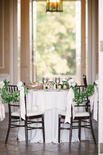 The table of honor: http://www.stylemepretty.com/little-black-book-blog/2014/11/04/elegant-crane-estate-wedding/   Photography: Jenny Moloney - http://jennymoloney.com/