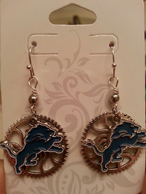 Detroit Lions & Gear earrings
