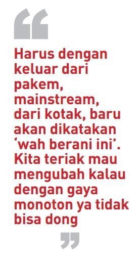 Jokowi's statement as Jakarta Governor Candidate