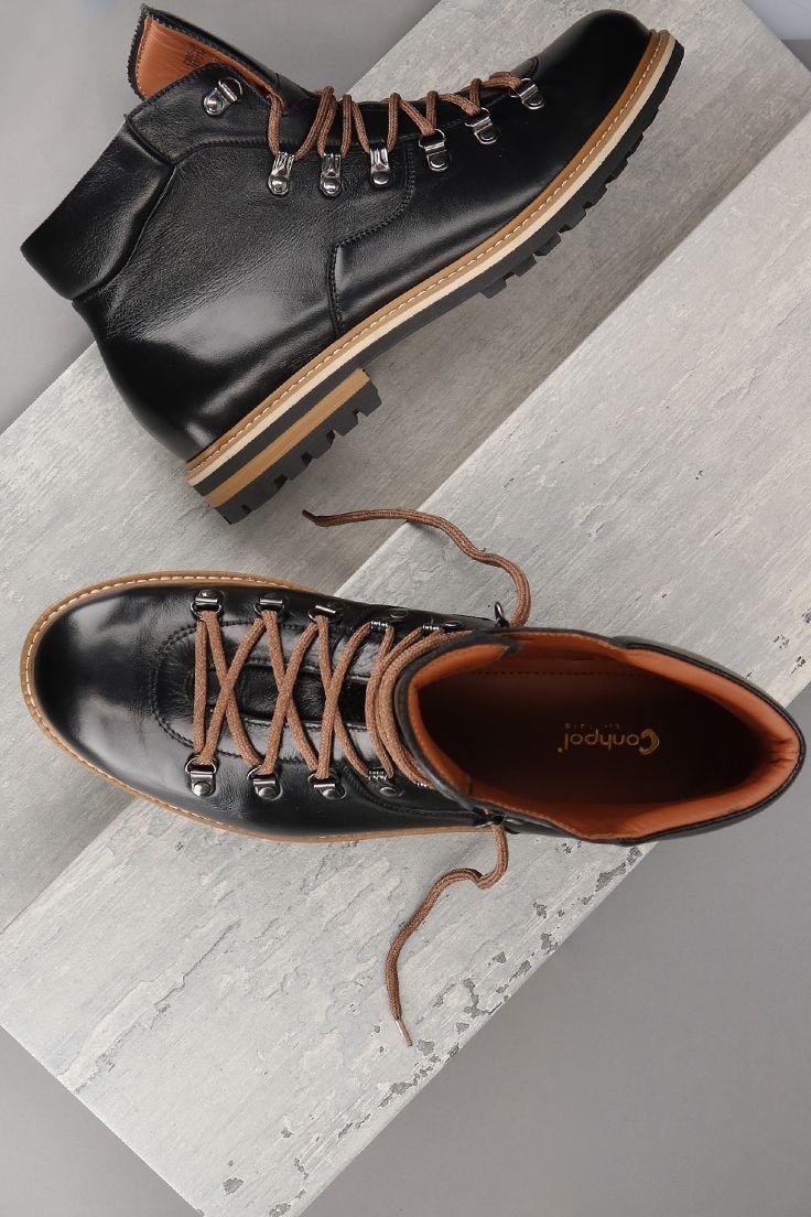 Trzewiki Czarne Meskie Skorzane Olivier Ce6140 01 Boat Shoes Fashion Shoes