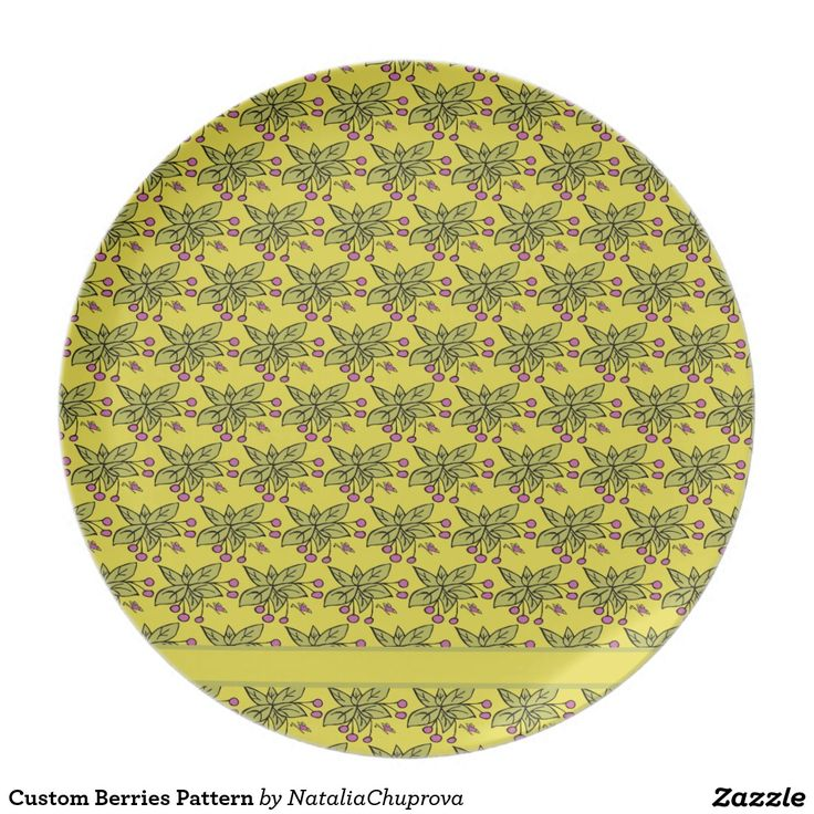 Custom Berries Pattern Party Plate  sc 1 st  Pinterest & 17 Best images about Custom Dinner Plates with Illustrations and ...