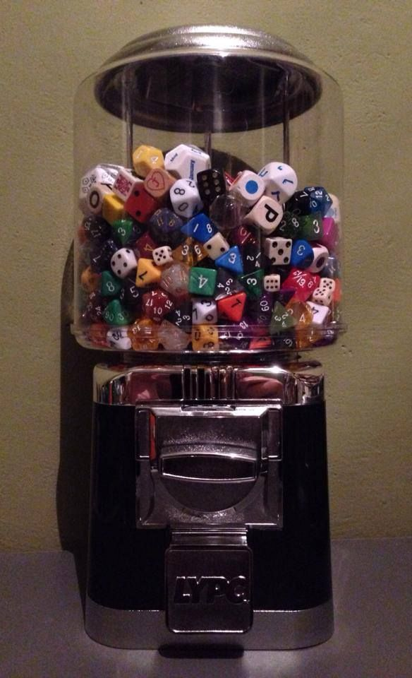 and what do I happen to have hiding in the basement? AN OLD EMPTY GUMBALL MACHINE