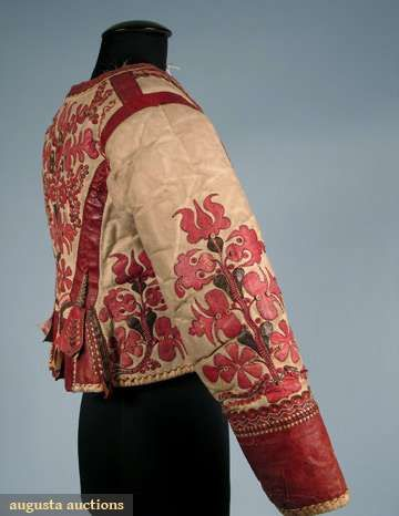 "Woman's Hungarian ""kodmen"" Jacket, 19th C, Augusta Auctions, October 2008 Vintage Clothing & Textile Auction, Lot 238"