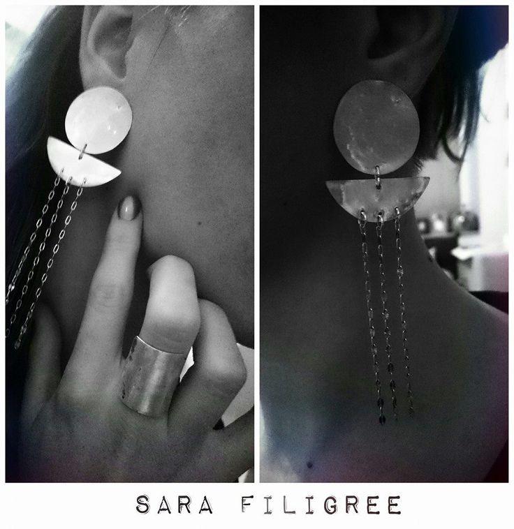 Handmade silver earrings & ring...