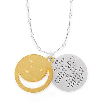 Look what I found at UncommonGoods: Under The Same Moon Pendant for $76.00