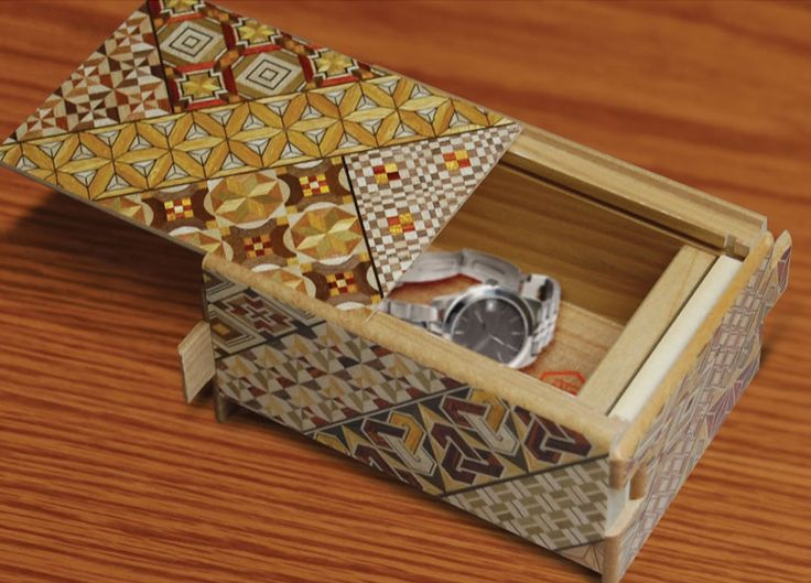 This Himitsu-Bako Japanese Puzzle Box will keep your small valuables mildly secure when placed inside, but only if you can figure out how to open it first. Description from culturewav.es. I searched for this on bing.com/images