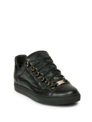 BALENCIAGA Arena Leather Low-Top Sneakers.  balenciaga  shoes  sneakers  2b6b36e96