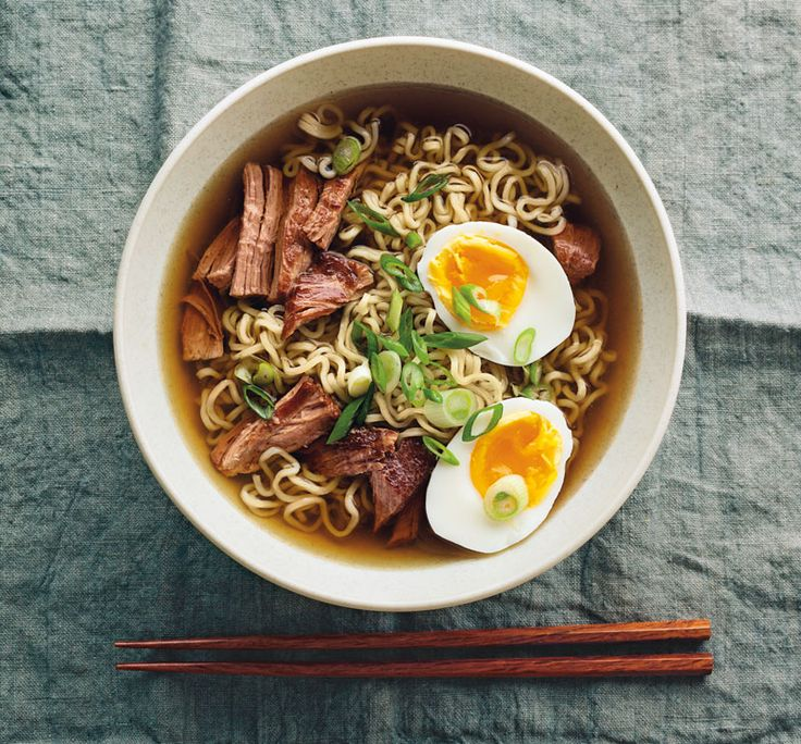 The finest Japanese pork ramen takes considerable culinary skill and many hours to create. Here is a simplified, yet still delicious, version that uses plenty of succulent braised pork. If you can'...