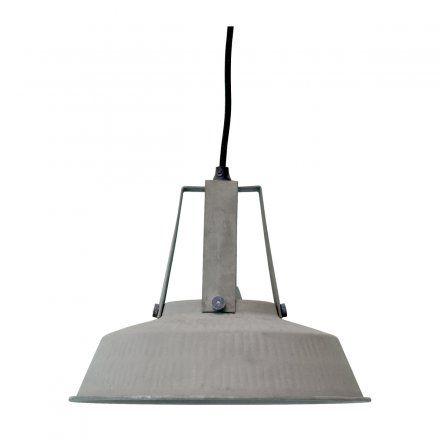 Deckenlampe Workshop Rustic M grau Metall