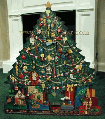Heirloom Wooden Advent Calendar Christmas Tree