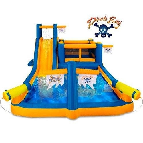 Pirates Bounce House Kids Inflatable Bouncer w 150 Balls Water Slide Blower   eBay