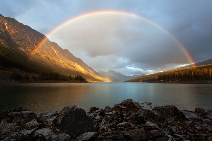 Medicine Lake Rainbow by Tyler Brigham