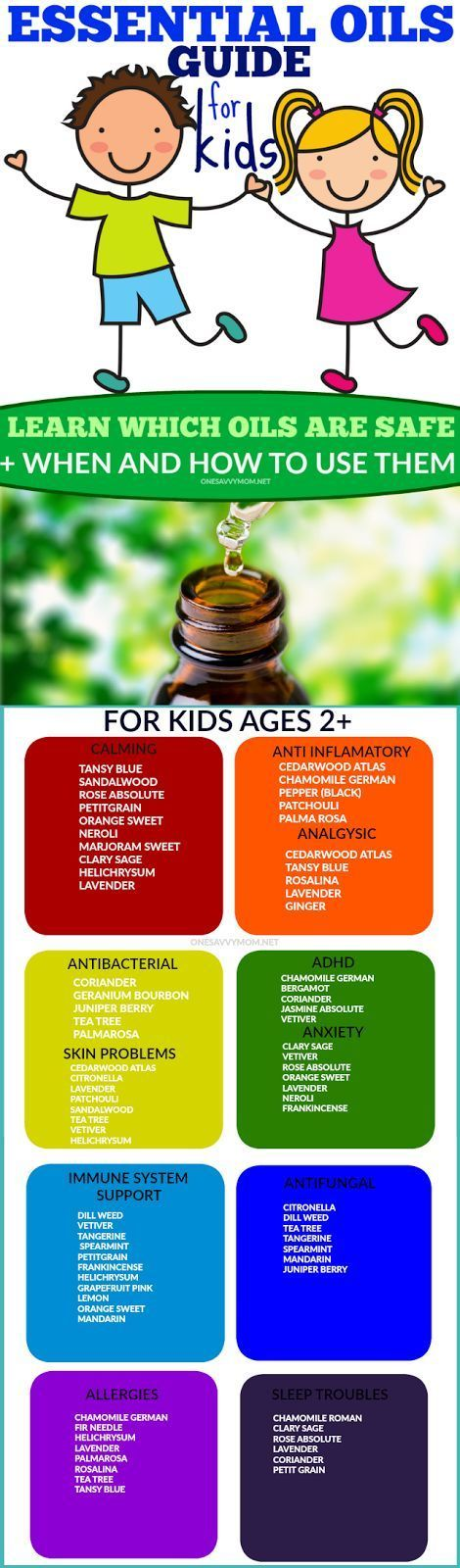 Essential Oils Guide For Kids: Which Oils Are Safe For Kids + When and How To Use Them Essential Oils have so many amazing health benefits. Essential Oils can be great for kids too! However, not all essential oils are safe for kids. Knowing which oils to use and how to use them, can be a really tricky thing to navigate.