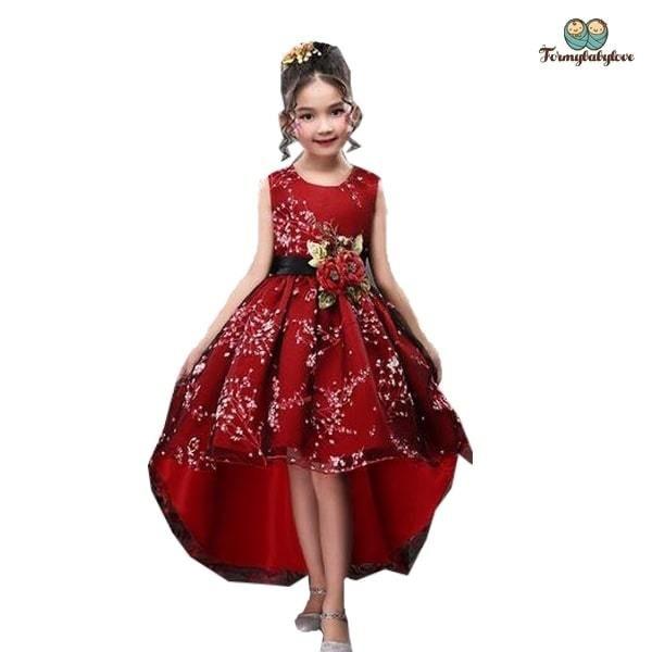 Robe De Ceremonie Fille Karem Du 4 Ans Au 12 Ans Robe Soiree Enfant Robe Ceremonie Robe De Mariee Pour Enfants