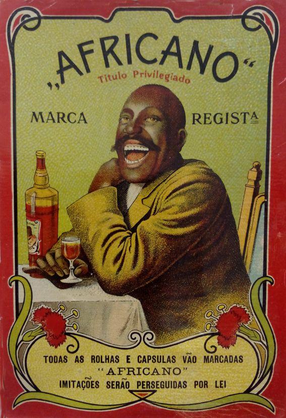 "etiqueta Licor. ""Africano"" Portugal"