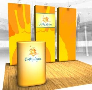 Tension Fabric Pop Up Display Booths Trade Show Displays 10 X Booth Pinterest And