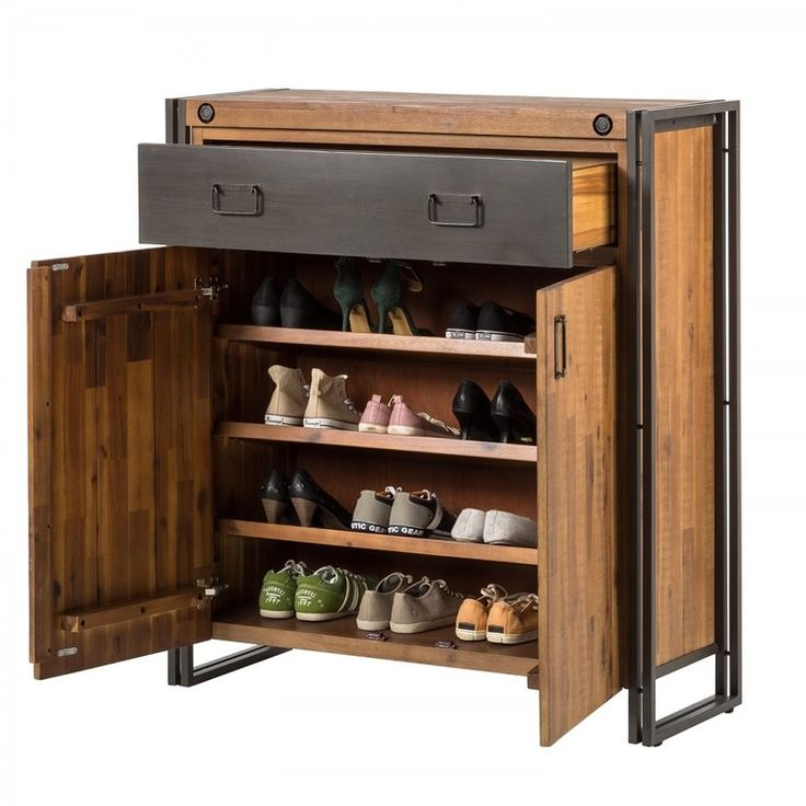 schuhschrank manchester im industrial style. Black Bedroom Furniture Sets. Home Design Ideas