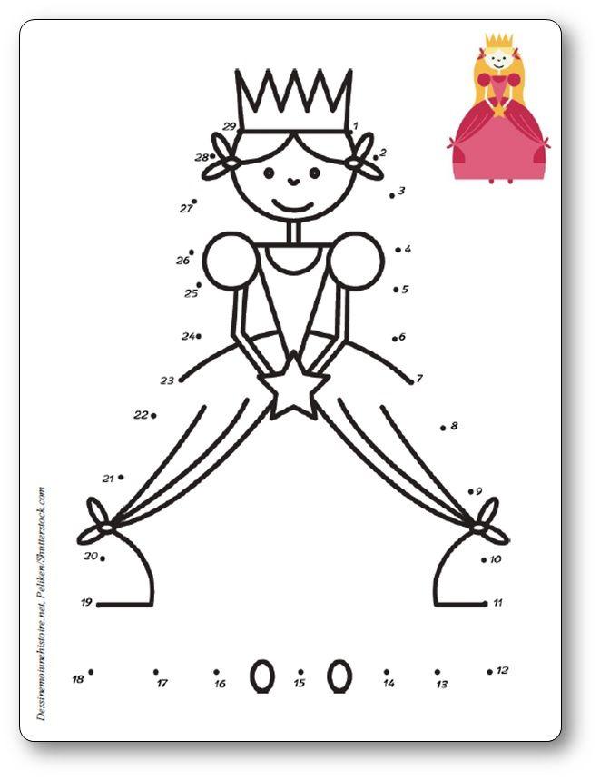 Relier les points 1 à 29 : la princesse