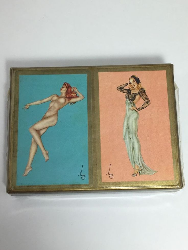 Double Deck of Vargas Girl Pin-Up Playing Cards 1941 Esquire in Origina Package