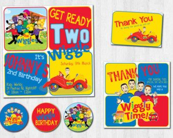 THE NEW WIGGLES Birthday Party Printable Set by theprintablecafe