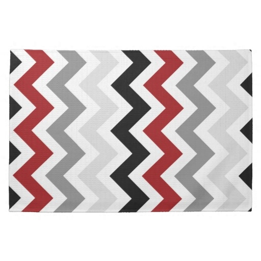 Shop Dark Red Gray Black White Chevron Kitchen Towels Created By Dmboyce.