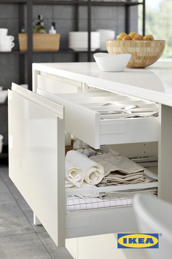 Marvelous IKEA SEKTION Kitchens Feature Drawers Within Drawers For The Ultimate  Organization! Organize Tools, Towels, Dinnerware Or Kitchen Gadgets To Keep  Them ...