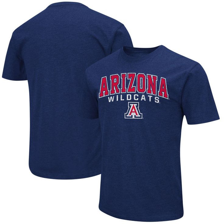 Arizona Wildcats Colosseum Distressed Arch Over Logo T-Shirt - Navy