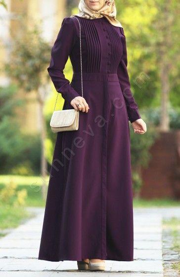 Nervürlü Lara Ferace - Mor Elbise,Ferace Özel krep mevsimlik kumaş. Özel davetlerinizde ve günlük olarak farklı kombinlerle rahatlıkla