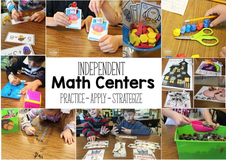 Guided Math Centers - Tunstall's Teaching Tidbits, math centers, math stations, math tubs activities, guided math, math rotations, first grade,