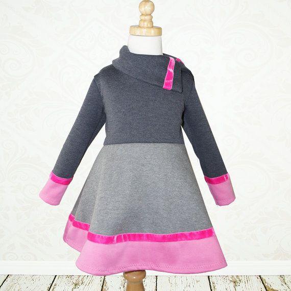 Colorblock girls dress and top sewing door MyChildhoodTreasures