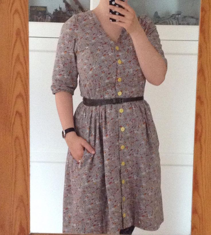 #mmmay16 day 18: it's my other @megannielsenpatterns #darlingrangesdress #mndarlingranges . I somehow don't love it as much as my red version but it's lovely to wear. The fabric is a very soft cotton voile completely underlined with more cotton voile. by tine_schnell