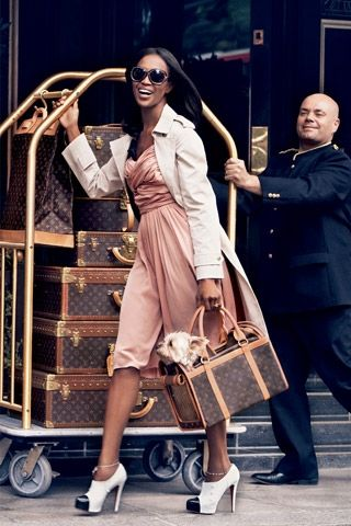 Doesn't every little girl dream of traveling with a collection of Louis Vuitton luggage? So fab!