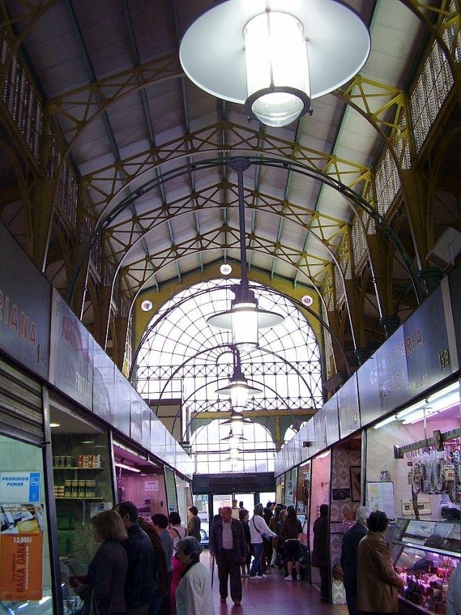 Mercado de Abastos de Palencia. 1898. Única obra de hierro y cristal de Palencia, proyectado por Juan Agapito Revilla