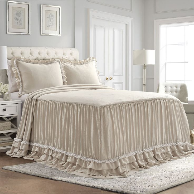 Ruffle Ticking Stripe Pillow Shabby Chic Beddingh Country Throw Pillowouse