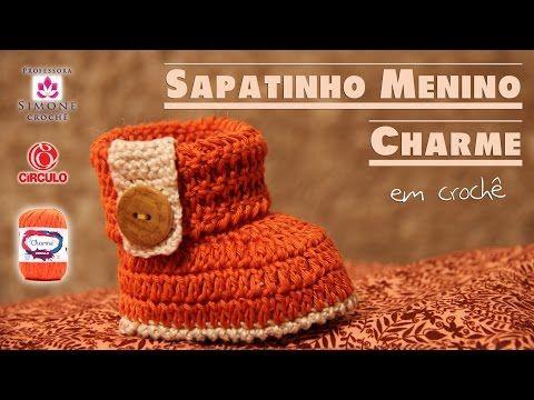 Passo a passo Sapatinho Princess em crochê - Professora Simone - YouTube