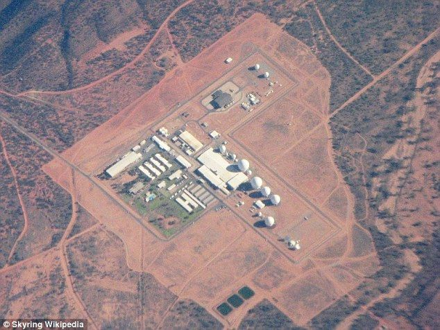 Now in a series of reports, a group of determined researchers have studied the workings of the tight lipped Pine Gap, offering a closer look into what takes place at the most important western intelligence gathering unit outside the US (pictured)