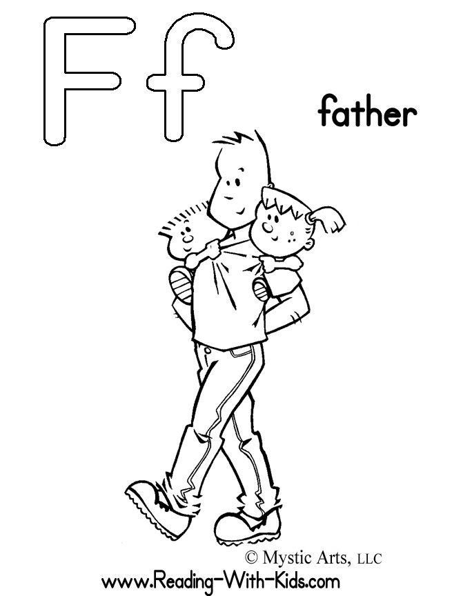 The Letter F Coloring Pages Letter F Coloring Sheet Alphabet Coloring Pages Fathers Day Coloring Page Coloring Pages
