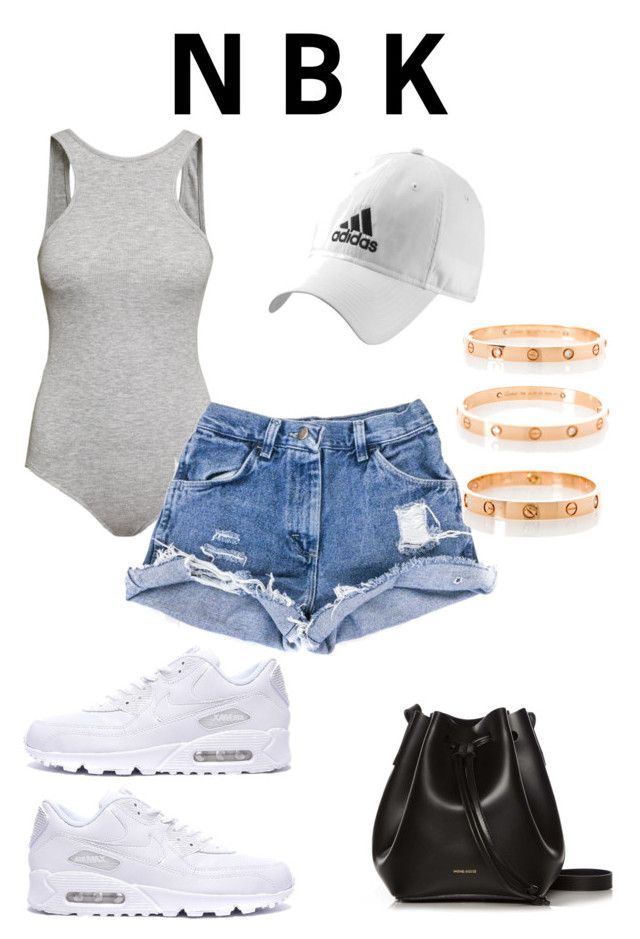 """Niykee Heaton inspired"" by newborderline ❤ liked on Polyvore featuring H&M, adidas, Rachael Ruddick and Cartier"