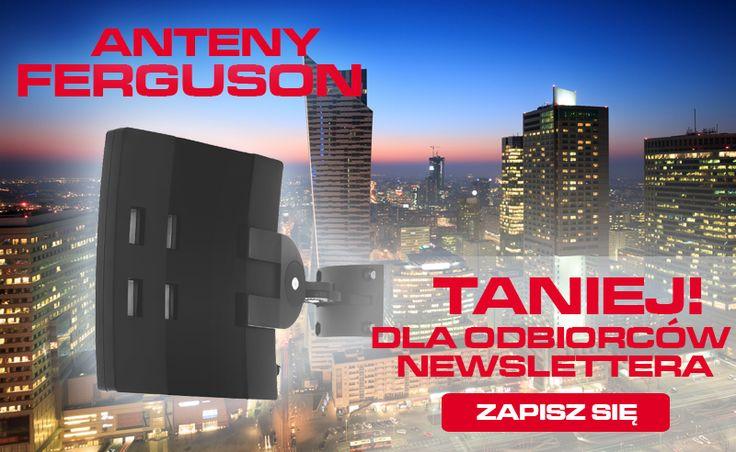 Jutro odbiorcy naszego newslettera, mogą spodziewać się w swojej skrzynce pocztowej kodu rabatowego na designerskie anteny marki Ferguson. Jeśli też macie ochotę na niego ZAPISZCIE się na nasz newsletter. http://sklep.ferguson.pl/