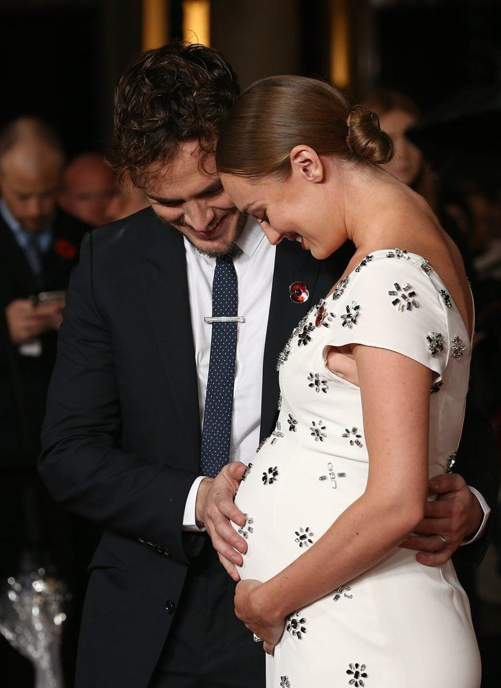 Pin for Later: Sam Claflin's Wife Reveals Her Pregnancy at the Hunger Games Premiere in London!