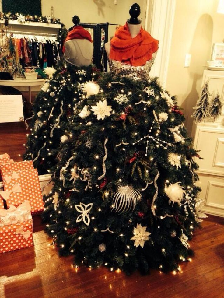 46 Fashion Inspired Christmas Trees Made From