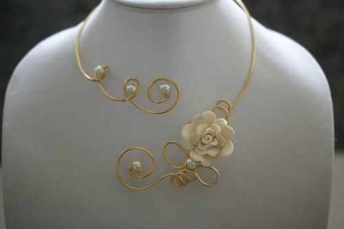 Wedding jewelry - Ivory wedding jewelry - Ivory rose jewelry  | LesBijouxLibellule - Jewelry on ArtFire
