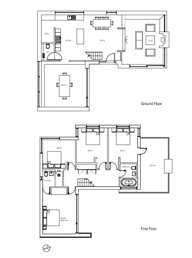English Designer 39 S Live Work Home House Floor Plans