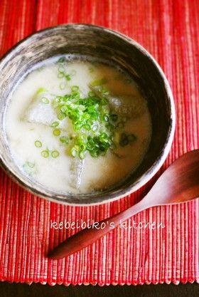 冬瓜の豆乳味噌スープ by kebeibiko [クックパッド] 簡単おいしい ...